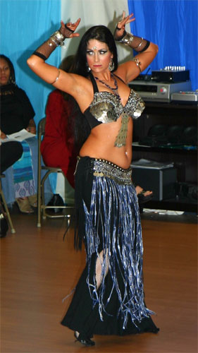 Schadia performing Tribal Fusion Dance