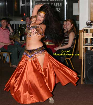 Overview Belly Dance Turkish Style Emphasized Dancer Wearing High Heels