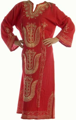 Silk Embroidered Belly Dance Caftan or Robe