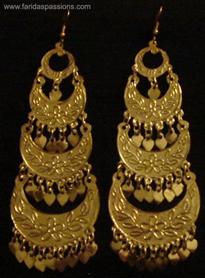 7 Earring Silver E02s Or Gold E02g Multi Tiered 4 Height